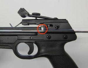 ピストルクロスボウの誤射防止テクニック